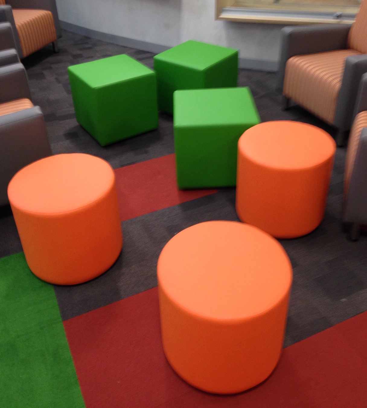 Cubes, Tubes and Rectangle Ottomans